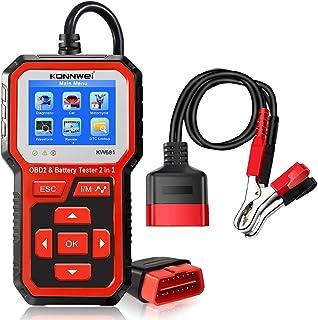 Sliverdew Leitor de código Plug and Play, scanner universal OBD2, ferramenta de diagnóstico de carro, motor de verificação...