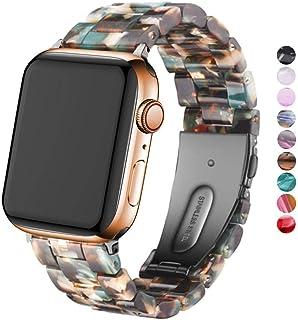 DEALELE Band Compatibel met iWatch 38mm 40mm 42mm 44mm, Kleurrijke Hars Armband Vervanging voor Apple Watch Series 6 / 5 /...
