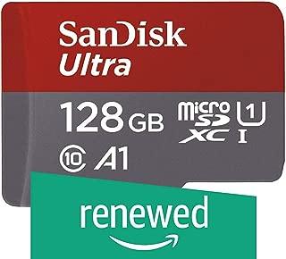 SanDisk Ultra 128GB microSDXC UHS-I card with Adapter - 100MB/s U1 A1 - SDSQUAR-128G-GN6MA (Renewed)