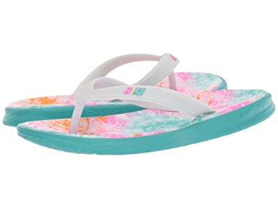Nike Kids Solay Thong Print (Little Kid/Big Kid) (Cabana/Pure Platinum/Laser Fuchsia) Girls Shoes