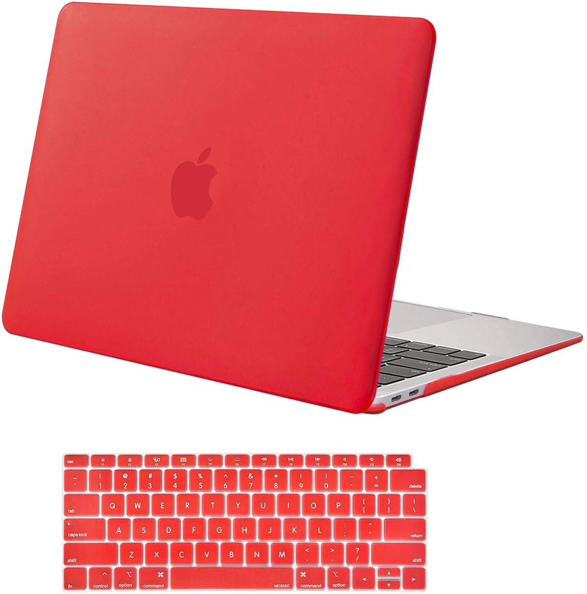 Funda y protector pantalla MacBook Air 13A2337 M1 A217 rojo