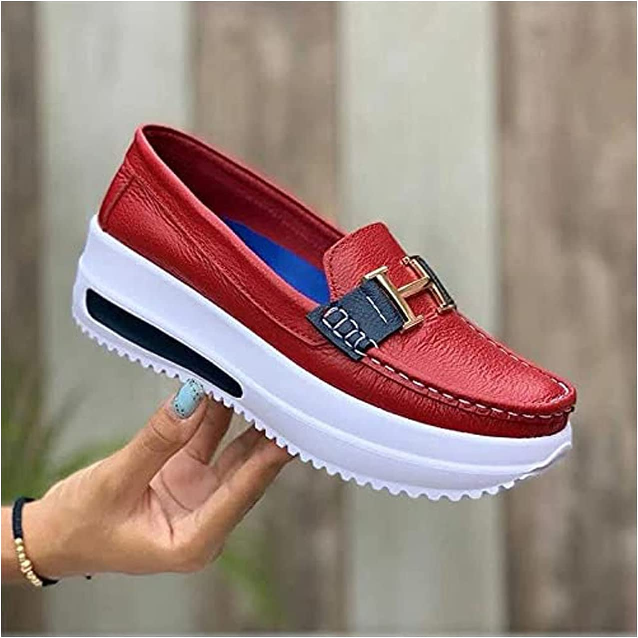 Women's Single Shoes Fashion Loafers Casual Thick-Soled Long Beach Mall Flat 5% OFF Stu