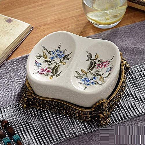 ACAMPTAR Zeepbakjes Badkamer Zeep Vaatwassers houden zeep droge retro keramische zeepbakjes handgemaakte zeepbak Badkamer toilet zeepgerechten -B