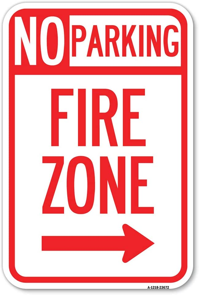 No Parking Sign Fire Zone with X Milwaukee New products, world's highest quality popular! Mall 18