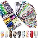 Duufin 400 Pezzi Adesivi Unghie Trasferimento Foil Unghie Decalcomanie Nail Art Foil per Unghie Decorazioni