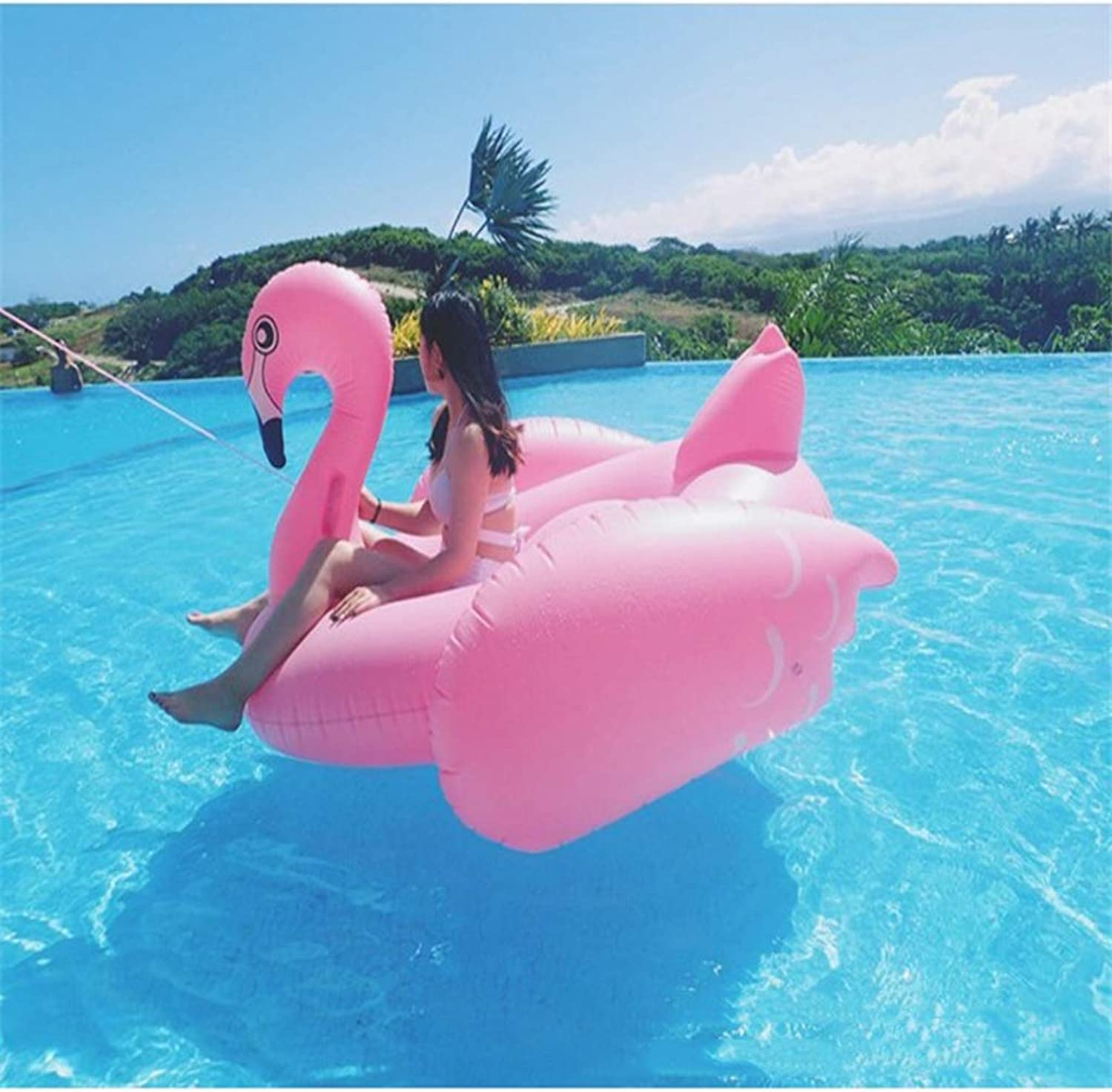 Inflatable Pool Toys Giant Flamingo Swimming Ring Summer Toy Pool Party Toy with Rapid Valves for Adults and Kids