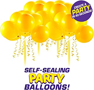 Bunch O Balloons Self-Sealing Latex Party Balloons (32 X Yellow 11In Balloons) (Custom Pack)