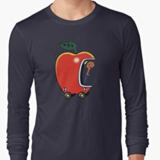 ZENFAON - Lowly the Worm and His Apple Car Long Sleeve - Teacher Assistant T-Shirts - Fun Teacher T Shirts