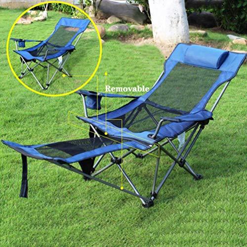 HUALI Sillas Plegables al Aire Libre y Ligera con el Resto del pie portátil extraíble Altura Ajustable Camping Silla for Adultos de Soporte 300 Lbs-b LIULI (Color : E)