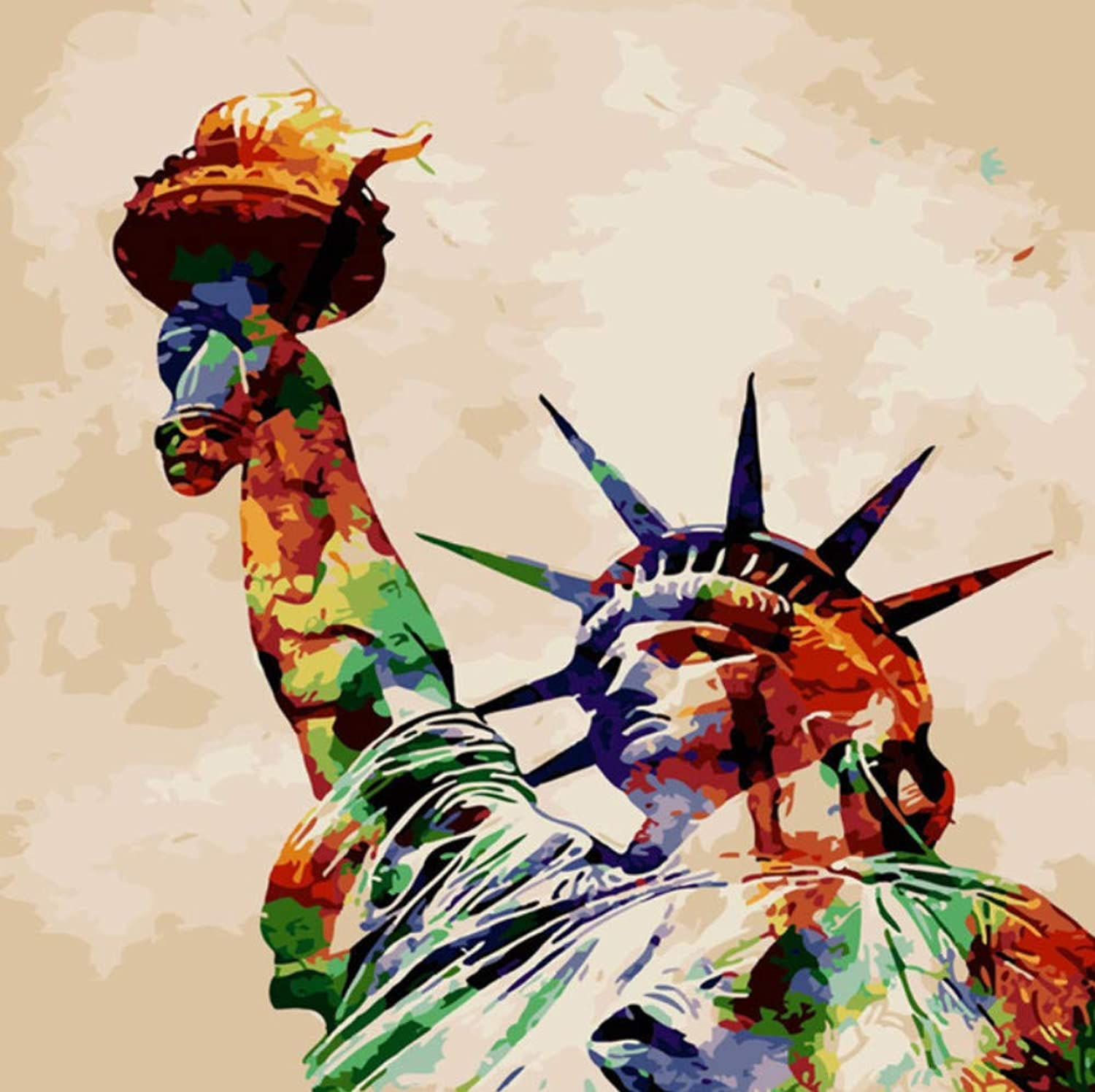 Statue of Liberty Oil Painting by Numbers DIY Abstract Digital Picture coloring by Numbers On Canvas Unique Gift Home Decor 50x60CM