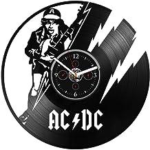 Clock AC DC Gift Clock AC DC Vinyl Wall Clock Birthday Gift Vinyl Record Wall Clock AC DC Wall Clock Large AC DC Record Clock AC DC Gift For Dad Vinyl Wall Clock 12 inch Clock Gift For Man