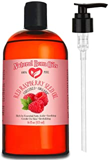 16oz Red Raspberry Seed Oil, 100% Pure and Natural, Organic, Moisturizing Gentle Oil for Skin and Hair - Includes Pump & F...