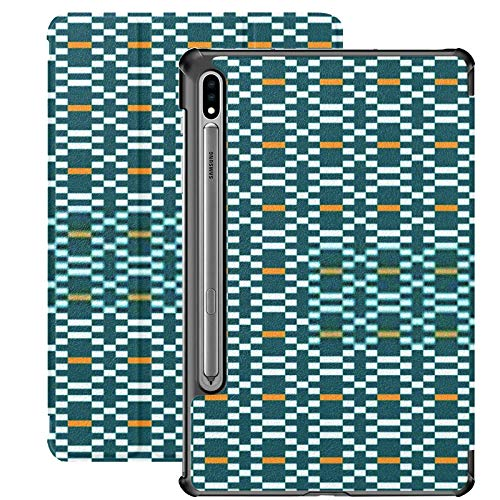 Funda Galaxy Tablet S7 Plus de 12,4 Pulgadas 2020 con Soporte para bolígrafo S, diseño gráfico étnico Decoración Patrón Abstracto Funda Protectora Delgada con Soporte para Samsung