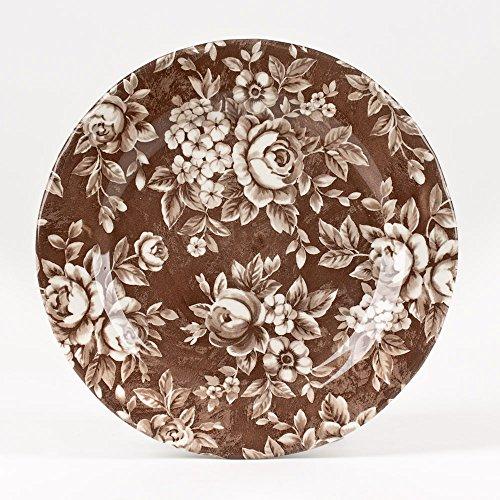 Table Passion - assiette à dessert splendor canelle 20.5cm (lot de 6)