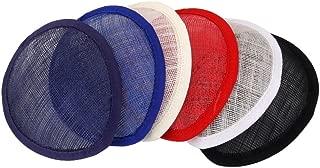 MagiDeal Teardop/Round Sinamay Hostesses Fascinator Hat Millinery Pillbox Base - TearDrop Beige