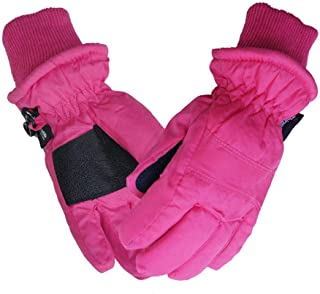 IPENNY Baby Toddlers Waterproof Ski Gloves Winter Thermal Kids Ski Mitten,  Thick Fleece Lined Outdoor Sports Gloves for Aged 1-3,  Great to Keep Hands Warm