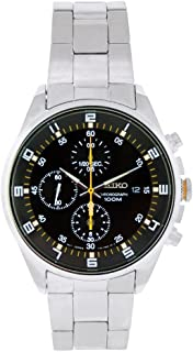 Seiko Men's SNDC89 Stainless Steel Analog with Black Dial Watch