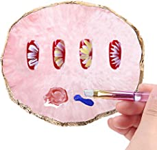 Resin Nail Art Palette, Kalolary Polish Holder Drawing Color Palette, Nail Art Painting Gel Palette Manicure Tool (Pink)