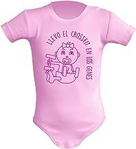 Body bebé unisex Llevo el crossfit en los genes. Regalo original. Body bebé divertido. Bebé deportista. Manga corta