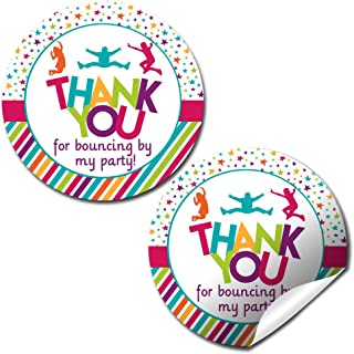 Jump and Bounce Birthday Party Thank You Sticker Labels, 40 2