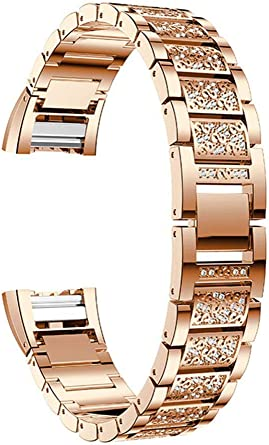 Replacement Watch Bracelet For Fitbit Charge 2 Rose Gold