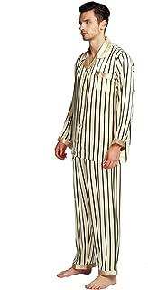 Men's Silk Satin Printed Pajamas Long