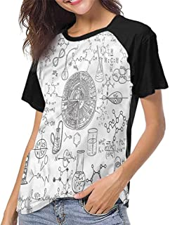 Crew Neck Short Shirts,Scenery,Wooden Pattern Window S-XXL Women's Sleeve Raglan