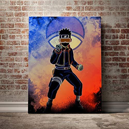 wZUN Cuadro de Pintura en Lienzo para decoracin del hogar, Mural de Naruto, impresin en HD, pster de Personaje de animacin Japonesa 60x90 Sin Marco