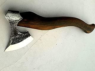 MDM Tomahawk Viking Hatchet Beared Camping Tool Axe Throwing with Walnut Wood Handle