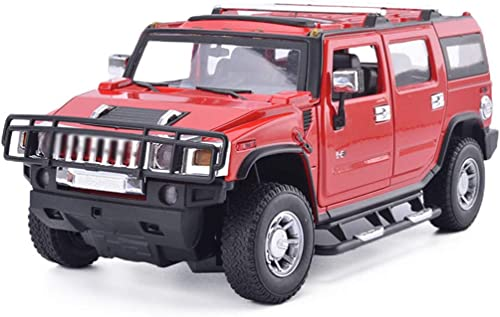 tienda de venta en línea FLYSXP Hummer Model Car H2 H2 H2 vehículo Todoterreno 1 18 simulación de aleación de Juguete estático Modelo de Coche colección Ornamentos Modelo de Auto ( Color   rojo )  marca de lujo