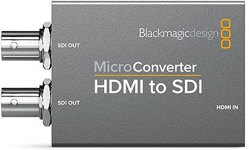 Blackmagic Design Micro Converter HDMI to SDI Active Video Converter - Conversor de vídeo (1920 x 1080 Pixeles, 525i,625i,720p,1080i,1080p, Active Video Converter, Gris, HDMI, BNC)