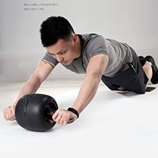 Ab Roller Wheel Ab wheel abdomen,trainer exercise roller and knee pad, comfortable handle/strength training abdominal musc...