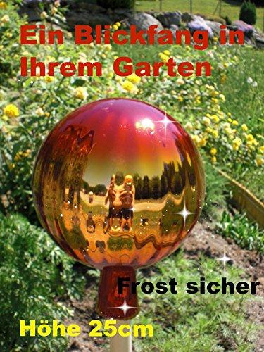 Gartenkugel (R26) Rosenkugel Gartenkugeln Rosenkugeln Glas 25 cm groß (auch mit Rosenkugelstab -Gartenstecker erhältlich)