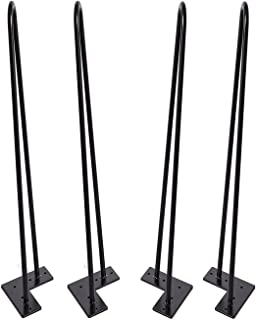 Hairpin Legs 28 inch Set of 4, DIY Furniture Metal Table Legs Perfect for Coffee Table, Dining Table, Designer Desk, Nightstand, 3/8