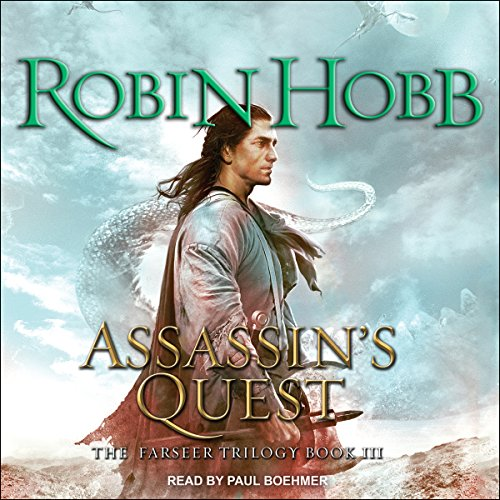Assassin's Quest     The Farseer Trilogy, Book 3              By:                                                                                                                                 Robin Hobb                               Narrated by:                                                                                                                                 Paul Boehmer                      Length: 37 hrs and 35 mins     5,918 ratings     Overall 4.5