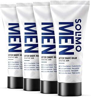 Amazon-merk: Solimo - Men aftershave balsem – gevoelige huid, 4 x 100 ml