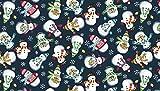 Makower Quiltstoff mit Frosty-Schneemänner-Motiv, 100 %