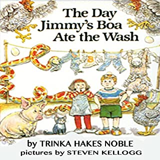 The Day Jimmy's Boa Ate the Wash                   By:                                                                                                                                 Trinka Hakes Noble                               Narrated by:                                                                                                                                 Cindy B. Haynes                      Length: 4 mins     80 ratings     Overall 4.4