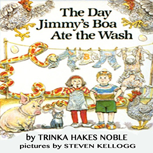 The Day Jimmy's Boa Ate the Wash audiobook cover art
