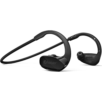 Phaiser BHS-530 Bluetooth Headphones for Running, Wireless Earbuds for Exercise or Gym Workout, Sweatproof Stereo Earphones, Durable Cordless Sport Headset Mic, Blackout