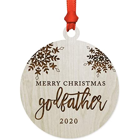 Amazon Com 3drose Llc Orn 151497 1 Porcelain Snowflake Ornament 3 Inch Best Godfather Ever Gifts For God Fathers Or God Dads Godparents Black Text Home Kitchen