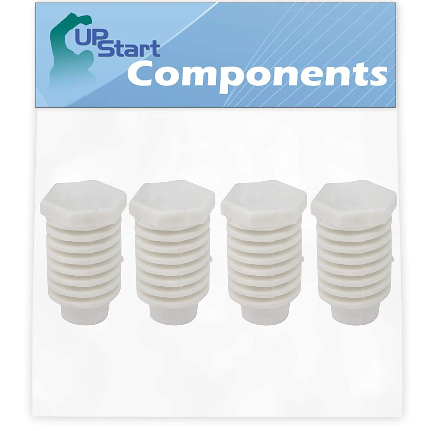 4-Pack 49621 Leveling Foot Replacement for Whirlpool LGR5624BW1 Dryer - Compatible with 49621 Dryer Leveling Leg Foot - UpStart Components Brand