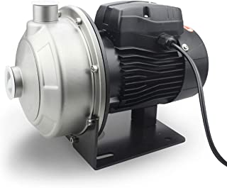 BACOENG 2000GPH High Volume Lawn Sprinkler Pump, Constructed from Stainless Steel 304 - Industrial Food Grade