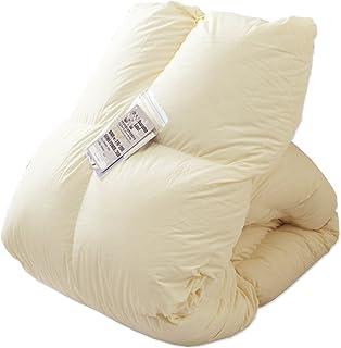 タンスのゲン 羽毛布団 キングロング 日本製 ホワイトダックダウン90% 7年長期保証 350dp(かさ高145mm) 以上 抗菌 国内パワーアップ加工 CILシルバーラベル ベージュ 10119217 82AM 【72211】