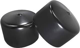 Prescott Plastics 2 3/4 Inch Round Black Vinyl End Cap, Flexible Pipe Post Rubber Cover (4)