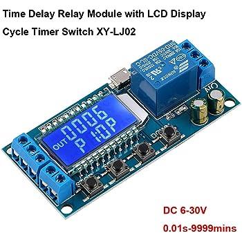 5V-24V DCMotor Vorwärts//Rückwärts Steuerung Timing Delay Zeit Relais Platte ♤