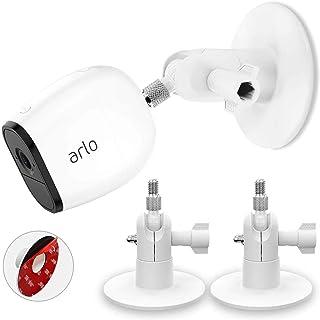 HOLACA Screwless Wall Mount Kit for Arlo Pro 3 Arlo Ultra Arlo Pro 2 eufyCam, Easy to Install, No Tools Needed, No Mess, N...