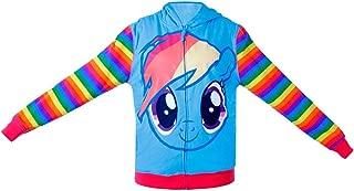 My Little Pony Rainbow Dash Mens Striped Zip Up Hoodie