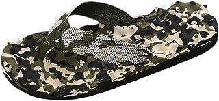 Enerhu Men Camo Flip Flops Beach Slippers Casual Shoes Home Sandal Indoor Outdoor Quick Drying