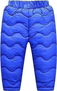 Happy Cherry Baby Boys Girls Windproof Elastic Down Pants Lightweight Warm Thicker Snow Pants